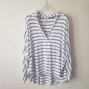 Free People We the Free top striped relaxed sz XS